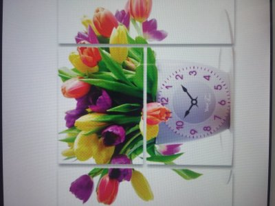 Часы модульные-картина