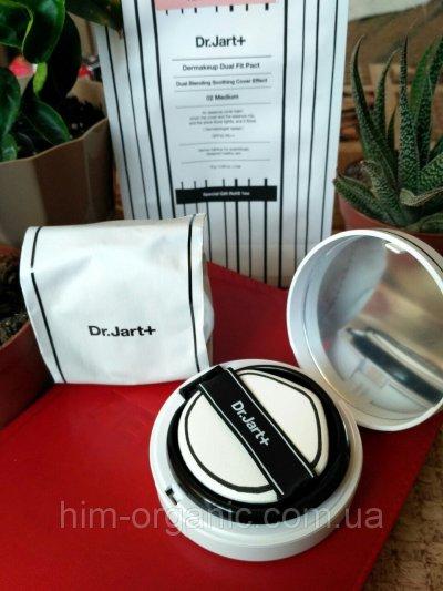 Компактная пудра Dr.Jart+ Dermakeup Dual SPF40/PA++ 16g+16g - 2 шт, тон 02 Medium