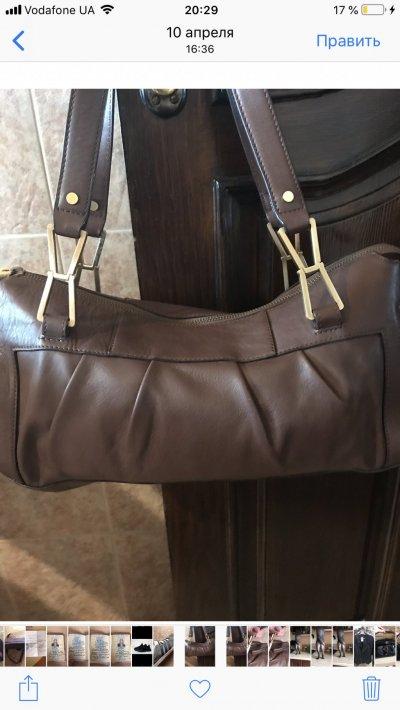 Классная кожаная сумка Calvin Klein
