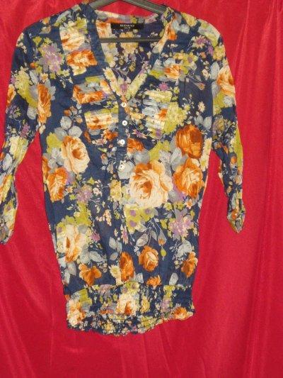 "Рубашка для девочки ""Reserved"" с розами"
