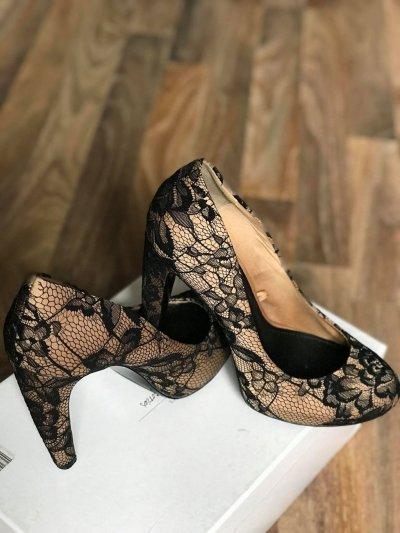 Туфли из атласа и кружева Stradivarius 37р. (24 см)