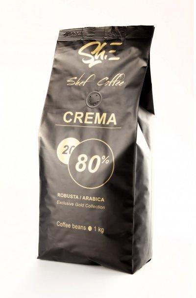 Кофе в зёрнах Арабики ShefCoffee Crema 80%