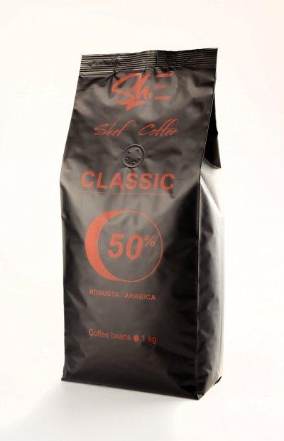 Кофе в зёрнах ShefCoffee Classic 50% Арабики