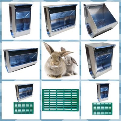 Кормушки многосекционные для кролей из оцинкованной стали