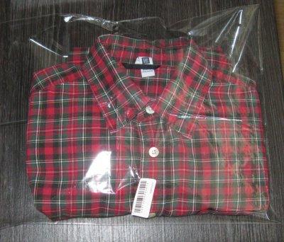 Детская рубашка GAP KIDS XL 12 в клетку с длинным рукавом новая