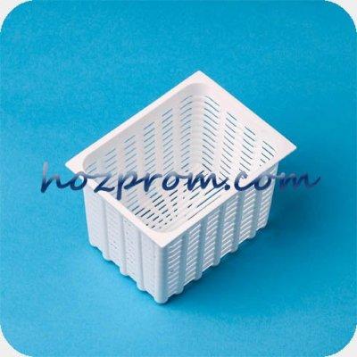 Прямоугольная форма Кирпичик 350 гр. для мягких сыров, брынзы, адыгейского сыра