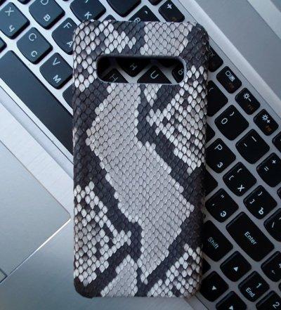 Samsung Galaxy S 10 чехол кожа питон