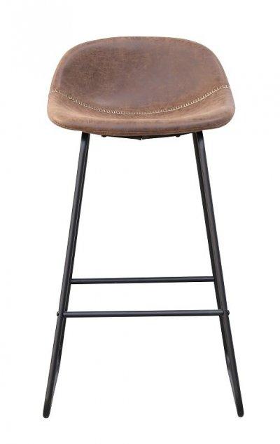 Стул барный высокий Бостон, металл, коричневый