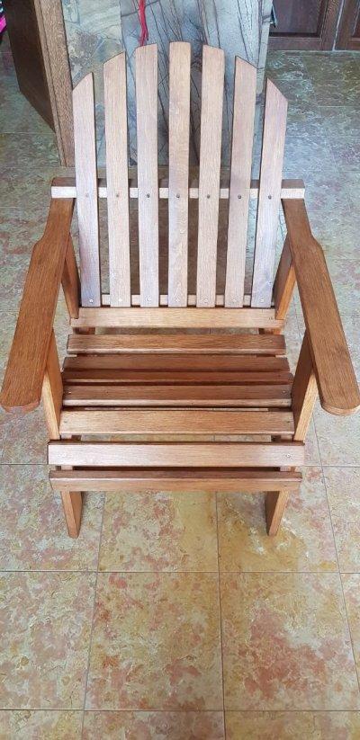 Деревянное кресло/ стул из ольхи