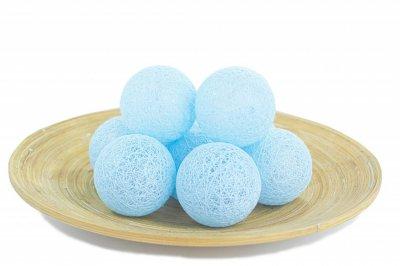 Гирлянды декоративные Cotton Balls 10led, диам 6см, длина 180см на батарейках АА Подробнее: https://