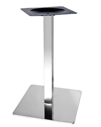 Опора Кама, нержавейка inox, высота 72 см, блин 40*40 см