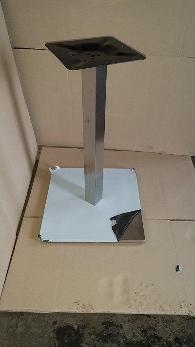 Опора Кама, нержавейка inox, высота 72 см, блин 45*45 см