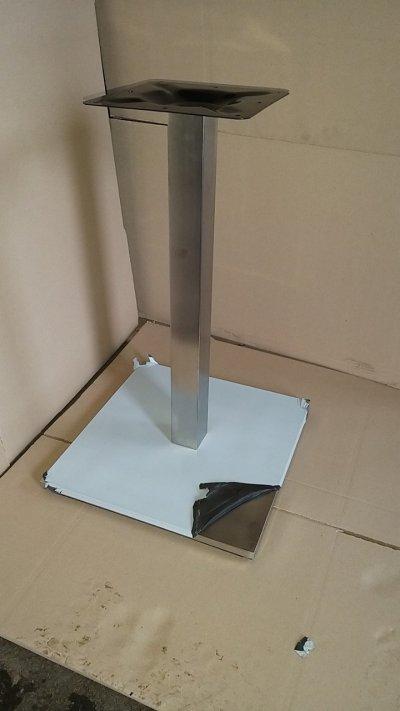 Опора Кама, нержавейка inox, высота 72 см, блин 50х50 см