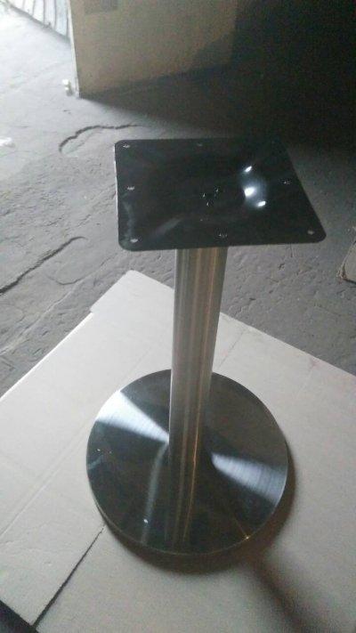 Опора Тахо, нержавеющая сталь, высота 72 см, блин 45 см