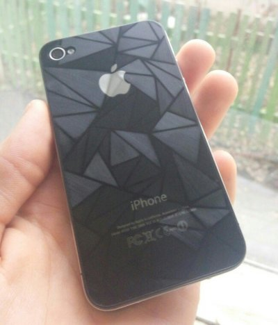 Защитные пленки с красивым узором на iPhone 4,4s