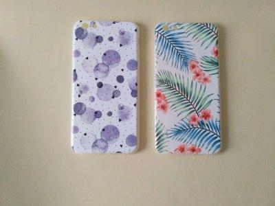 Чехол Бампер iPhone 6 plus Пузырьки и Листочки