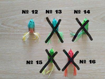 Лягушки незацепляйки на щуку и окуня с хвостиком 13 грамм