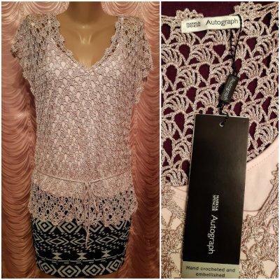 Нарядная ажурная блузка, футболка.Marks&Spencer.50 размер.