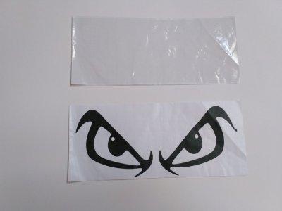Наклейка на авто Черные Глаза Тюнинг авто