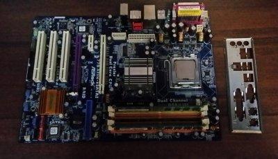 Материнская плата Сок-775 Ashrock+Процессор+Память 3Гб