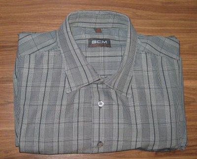 Мужская рубашка GCM Premium XXL 45/46 c длинным рукавом новая