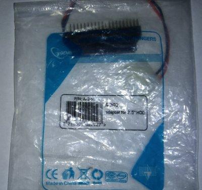 """Адаптер-переходник Gembird A-240 для подключения 2,5"""" HDD к системному блоку"""