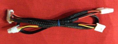Дополнительный кабель 4pin - 2 molex x 1fdd для модульного БП Chieftec
