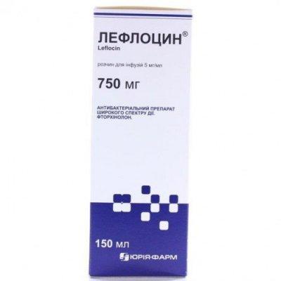 Лефлоцин 750 мг раствор для инфузий 150 мл