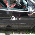 Наклейка на авто Питбуль Большая Чёрная