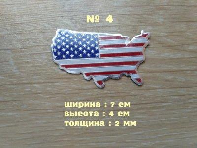Наклейка Флаг Америка алюминиевые на авто или мото