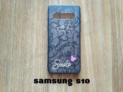 Чехол на Samsung S10 в стиле платье с кружевами с цветочным рисунком