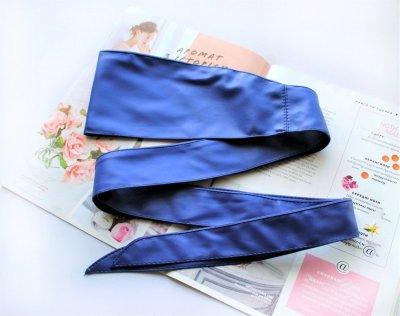 Пояс кушак для женщин синего цвета