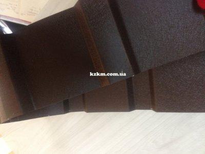 профнастил двухсторонний матовый темно-коричневый RAL 8019 купить для забора, ворот, калитки