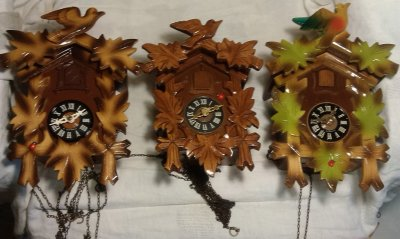 Часы с кукушкой и боем KAISER Германия