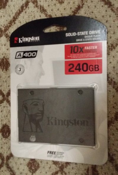 "Диск Kingston SSDNow A400 240GB 2.5"" SATAIII TLC"