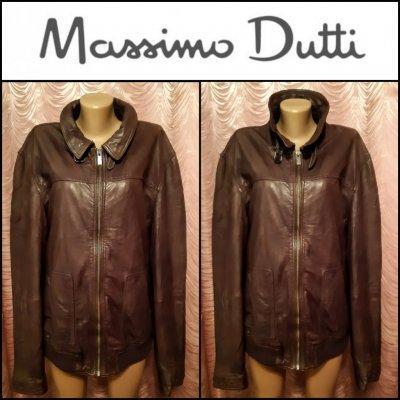 Massimo Dutti. Мужская кожаная куртка. Оригинал.Размер XL.