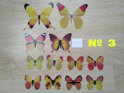 Бабочки №3 декор на холодильник, обои, зеркала