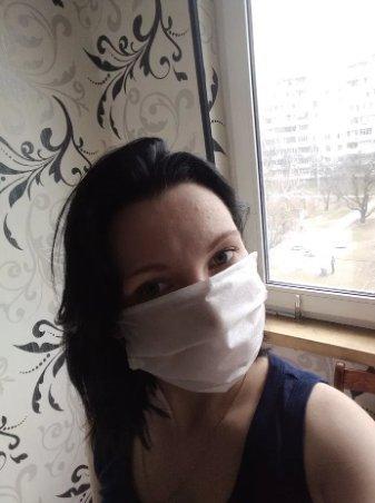 Защитная маска, повязка тройная