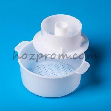 Форма для сыра с поршнем Приготовление домашнего сыра из молока