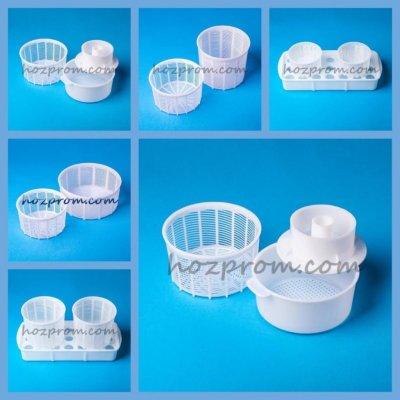 Комплект форм для сыра Брынза на закваске Фета из козьего молока