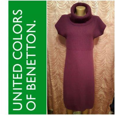 Stile Benetton. Платье кашемир 100%.Размер М.