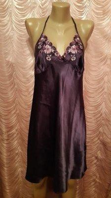 Атласная ночная рубашка. Пеньюар. BHS.48 размер.