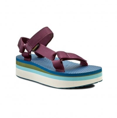 Босоножки teva w flatform universal retro 1013653 grape wine оригінал