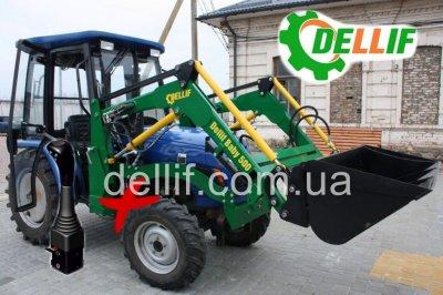 Фронтальный погрузчик на мини-трактор - кун Деллиф Бейби 500 с джойстиком