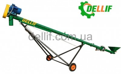 Шнековый транспортер (погрузчик зерна) - Деллиф