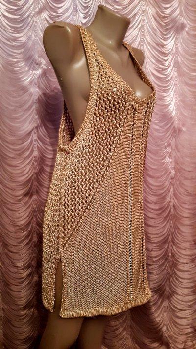Вязанная ажурная майка-топ,туника. H&M Conscious Collection. L размер