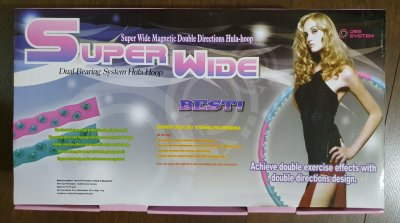 Массажный обруч Hula-Hoop Super Wide Magnetic Double