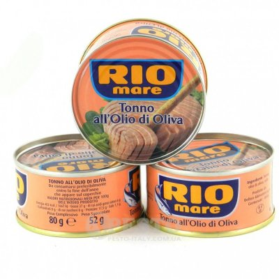 Тунець Rio mare в оливковій олії цілими кусочками 80 г