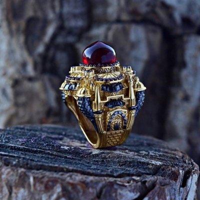 Авторское серебряное кольцо, перстень, печатка ручной работы 925 пробы с позолотой