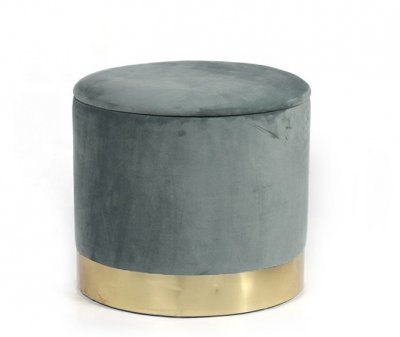 Мягкий пуф серого цвета Голд (пуф Gold)